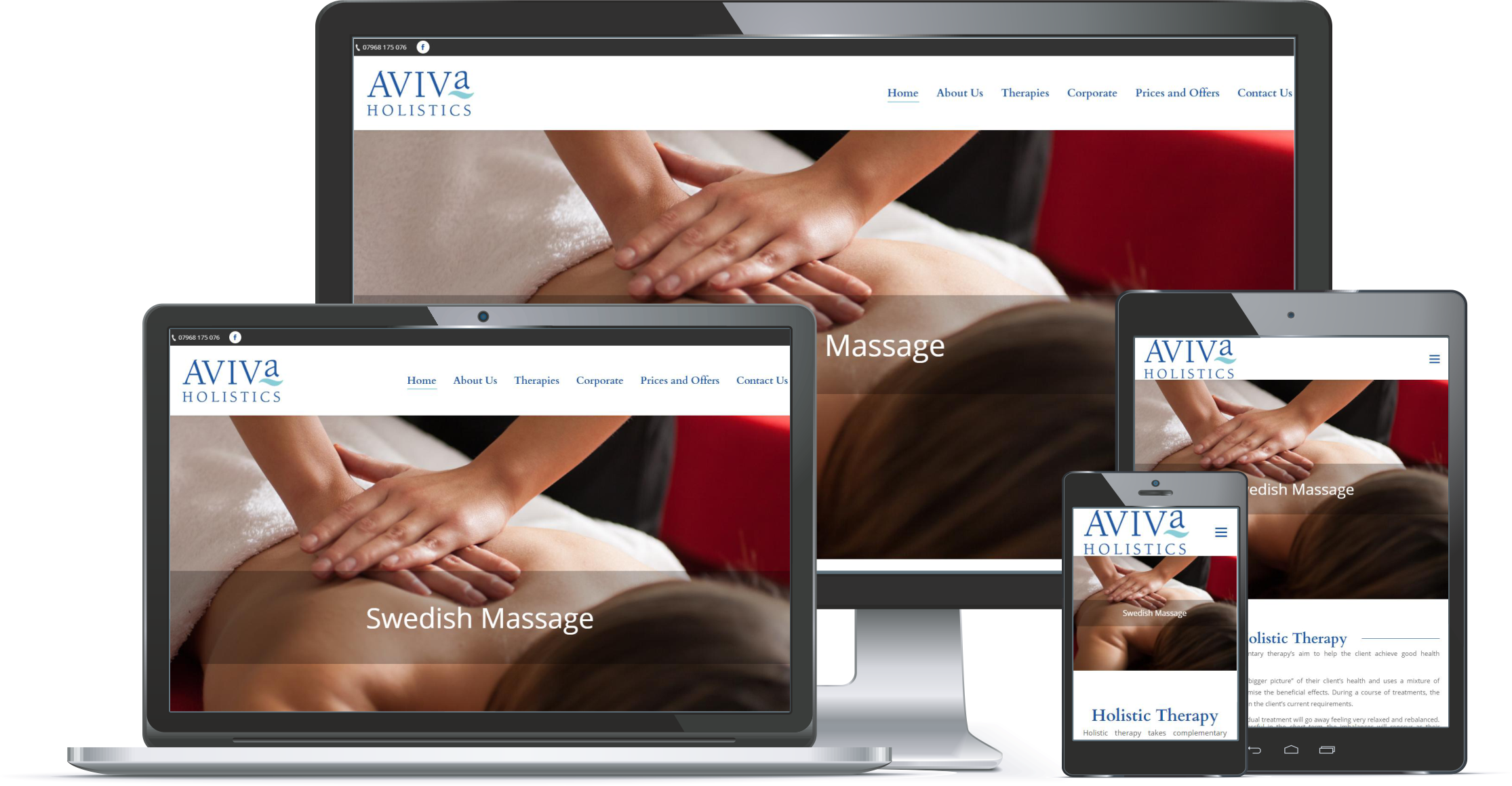 First Contact Website Portfolio Aviva Holistics