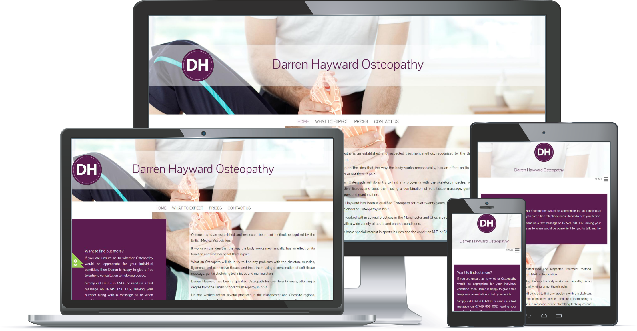 First Contact Website Portfolio Darren Hayward Osteopathy