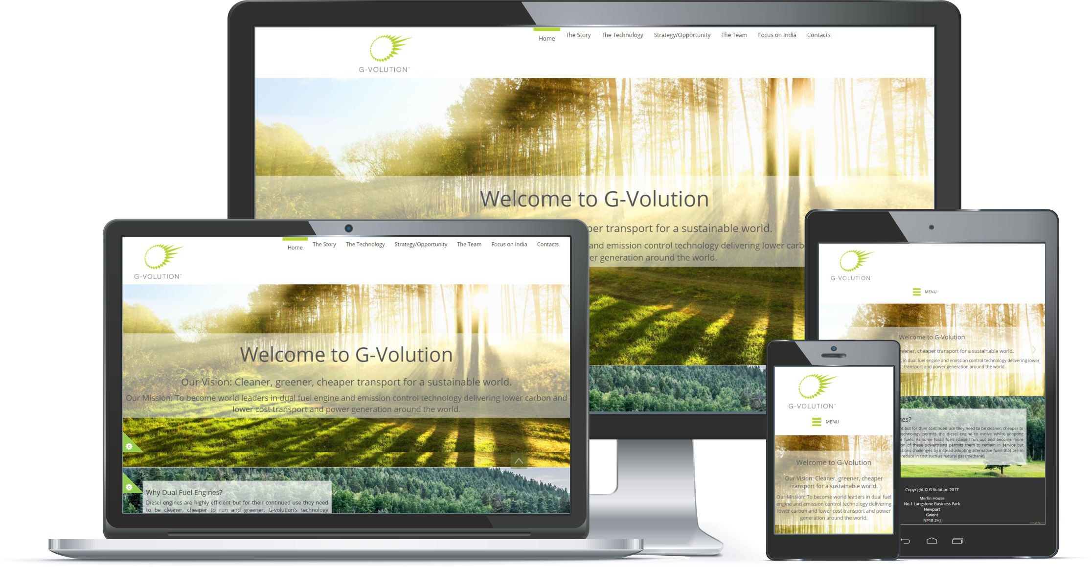 First Contact Website Portfolio G-Volution