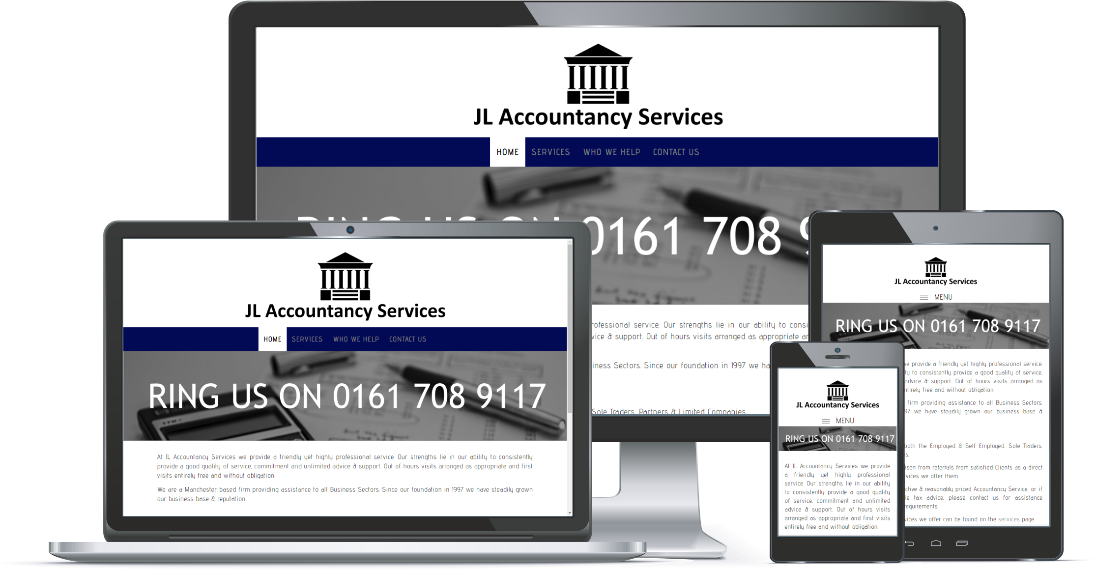 First Contact Website Portfolio - JL Accountancy Services