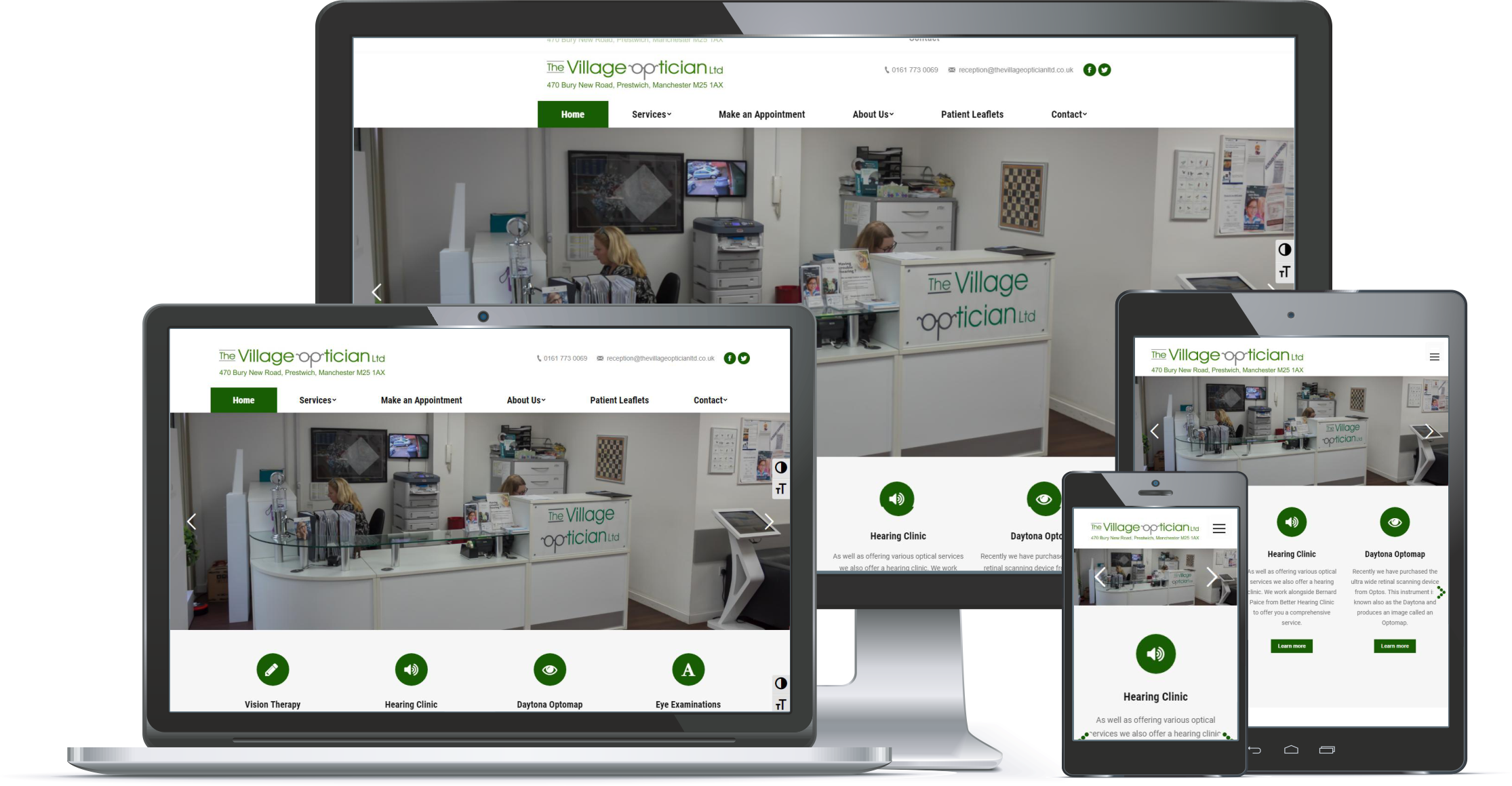 First Contact Website Portfolio The Village Opticians Ltd